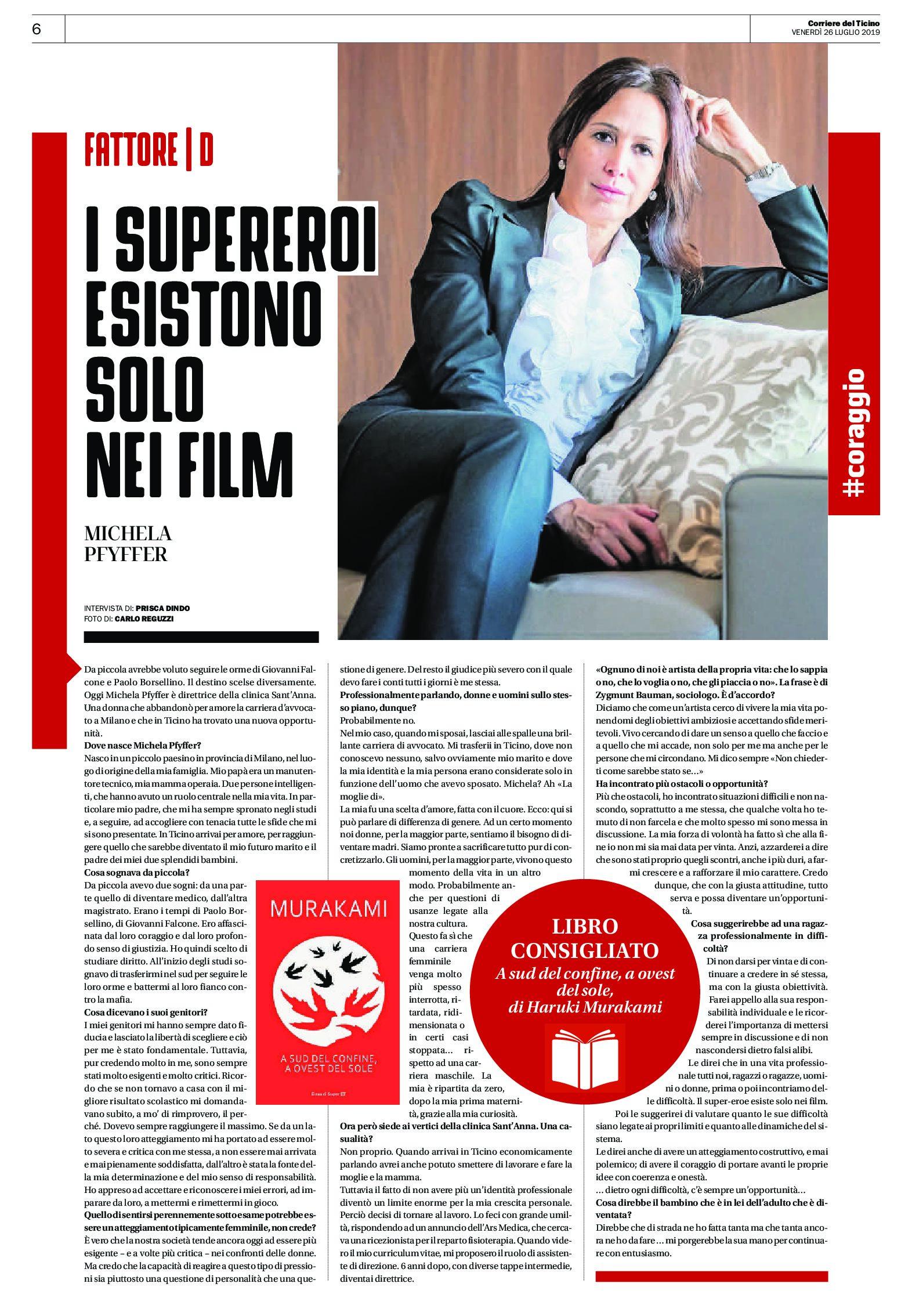 Intervista sul Corriere del Ticino